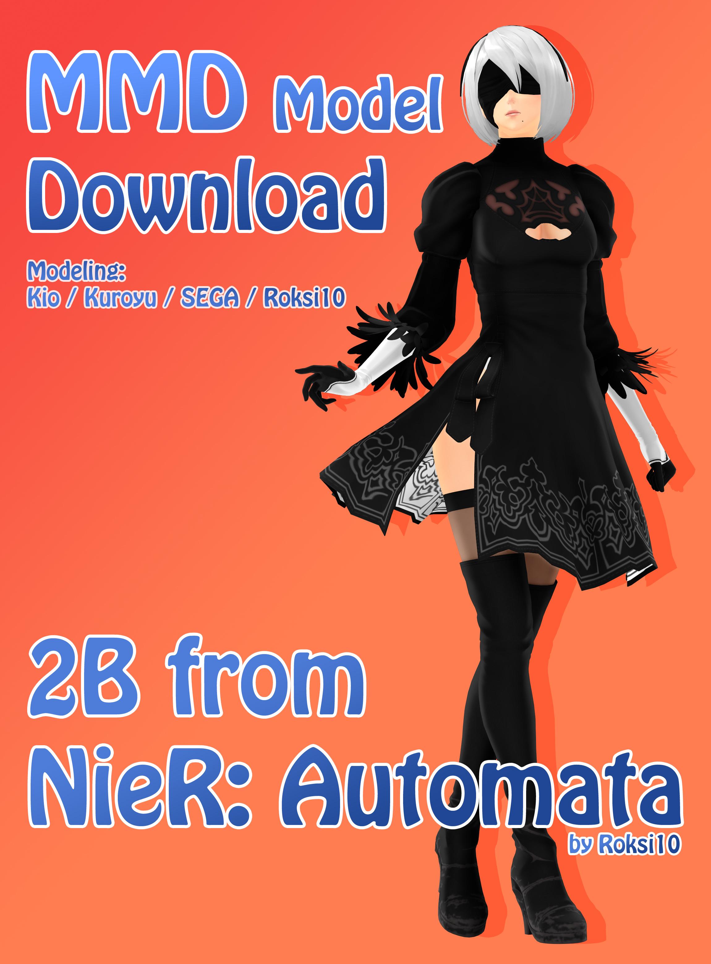 MMD DL - 2B NieR: Automata - by Roksi10