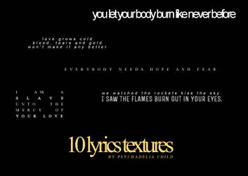 HURTS TEXT PACK by psychadelia child by Psychadeliachild