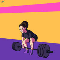 Strong Lady Deadlift | Animation