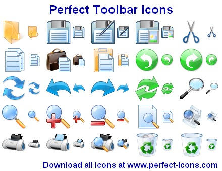 Perfect Toolbar Icons by Iconoman