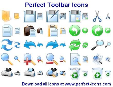 Perfect Toolbar Icons by Iconoman