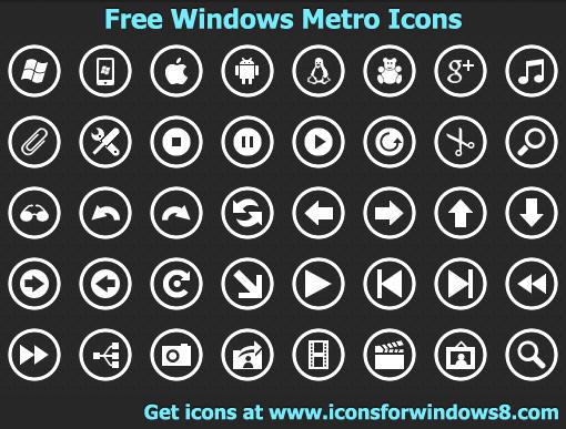 Free Windows Metro Icons by Iconoman