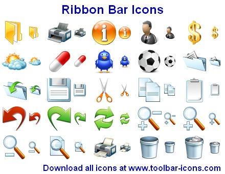 Ribbon Bar Icons by Iconoman