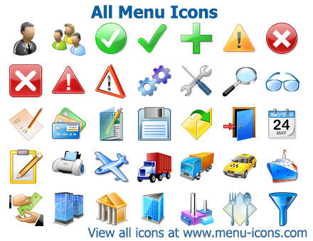 All Menu Icons by Iconoman