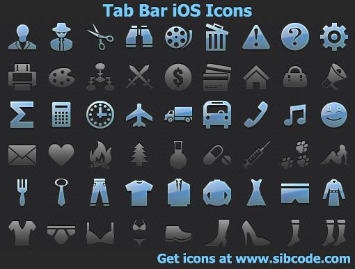 Tab Bar iOS Icons by Iconoman