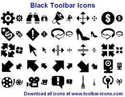 Black Toolbar Icons by Iconoman
