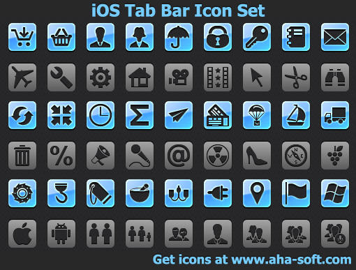iOS Tab Bar Icon Set by Iconoman