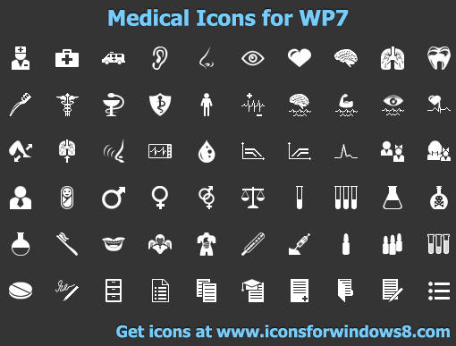 Medical Icons for WP7 by Iconoman