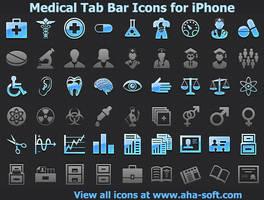 Medical Tab Bar Icons by Iconoman
