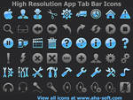 High Resolution App Tab Bar Icons for iPhone