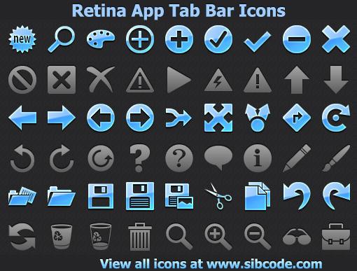 Retina App Tab Bar Icons by Iconoman