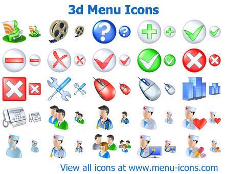 3d Menu Icons by Iconoman