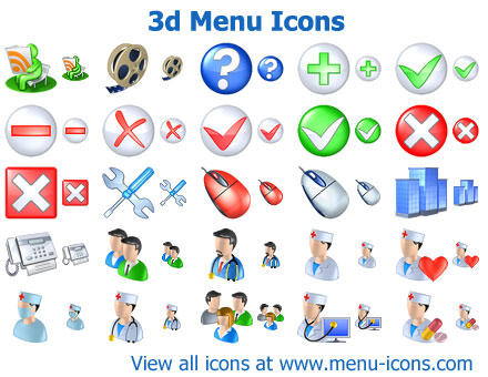 3d Menu Icons