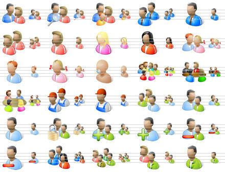 Desktop People Icons by Iconoman