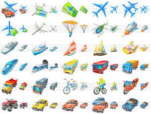 Transport Icons for Vista