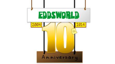 Eddsworld - 10th Anniversary Logo by SuperSmash3DS