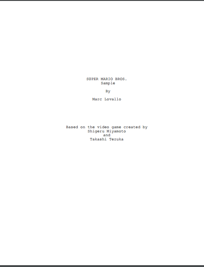 super mario bros movie script sample by supersmash3ds on deviantart