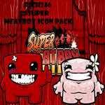 Super Meatboy Icon Pack