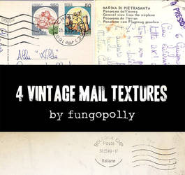 4 Vintage Mail Textures by fungopolly