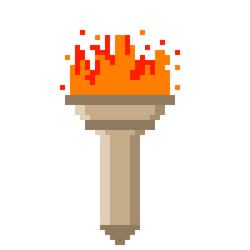 Animated 8-Bit Torch by CaptainToog