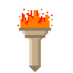 Animated 8-Bit Torch