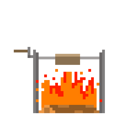 Campfire Animation Rough by CaptainToog