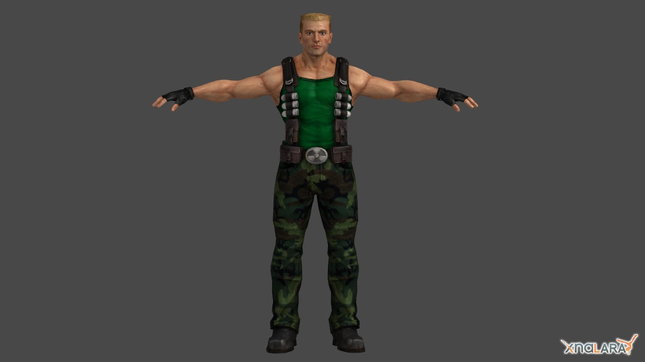 Duke Nukem- Guile edition by Janus3003