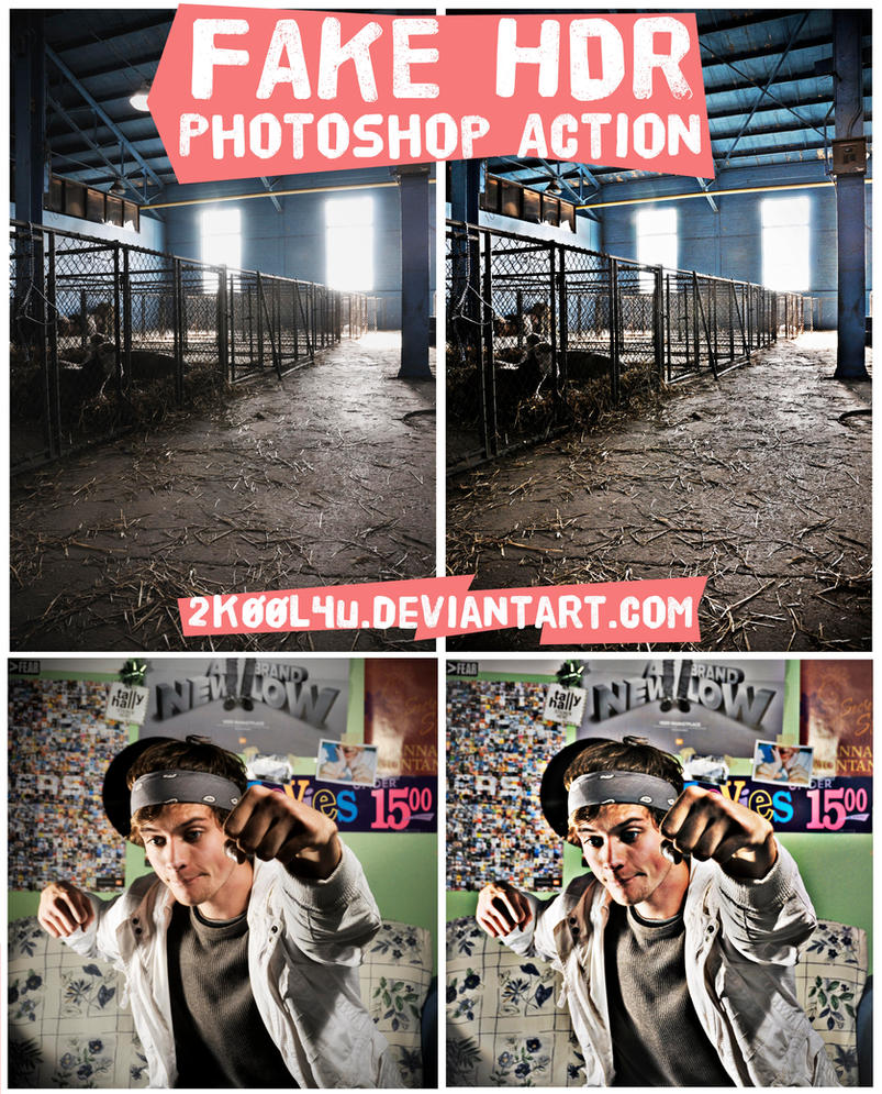Fake HDR Photoshop Action by 2K00L4U
