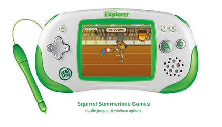 Squirrel Summertime Games - Hurdles