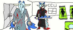 Rin Fighting Satan