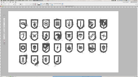 Tomb Raider 2013 Wappen Shields by Atomicxmario