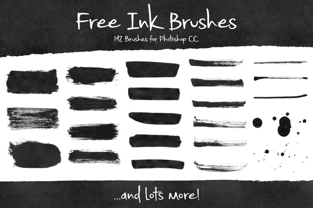 free ink brushes for photoshop by brittneymurphy on deviantart