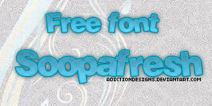 Free Font Soopafresh by adictiondesigns