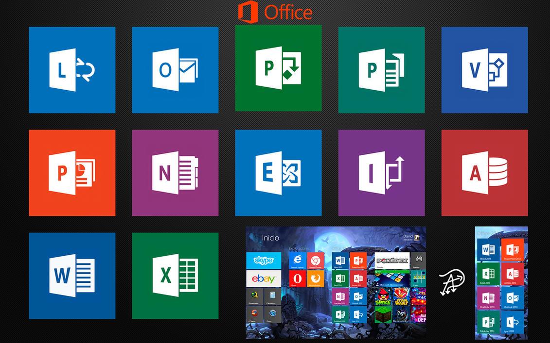 Microsoft Office 2013 Tiles - Windows 8 by davi5alexander