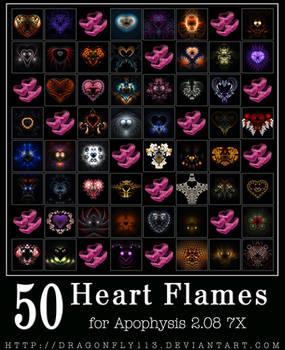 50 Heart Flames