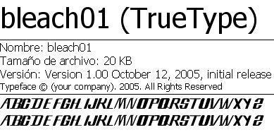 Bleach Font by th3K1ng
