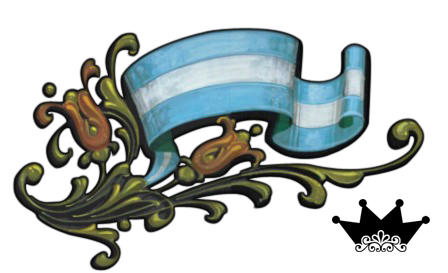 Bandera Argentina Filetiada