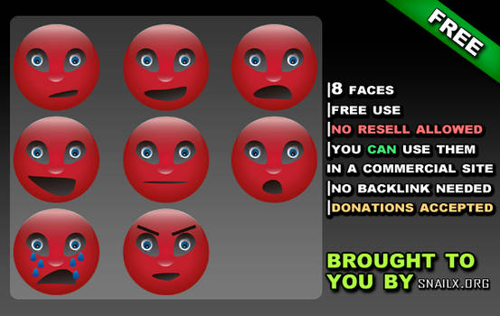 Red Face Icon Pack