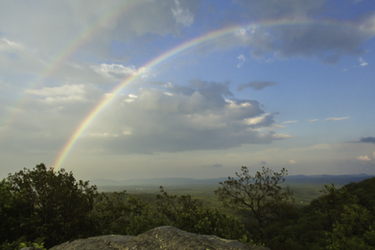 Mountain Top double Rainbow