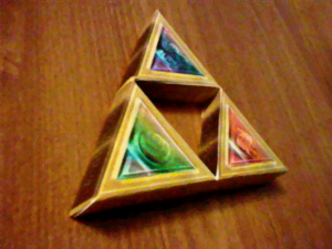 Triforce Papercraft by icycatelf