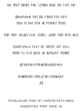 PixelSaxon Font by icycatelf