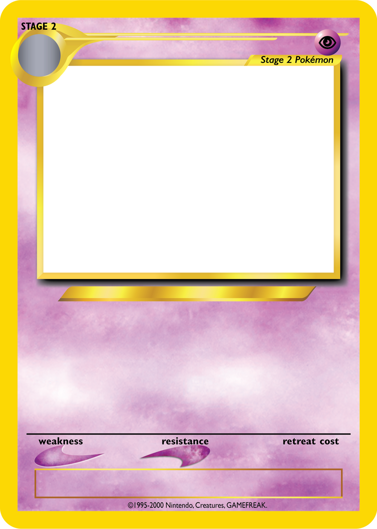 Pokemon tcg blanks neo jumbo stage 2 by icycatelf on for Pokemon templates print
