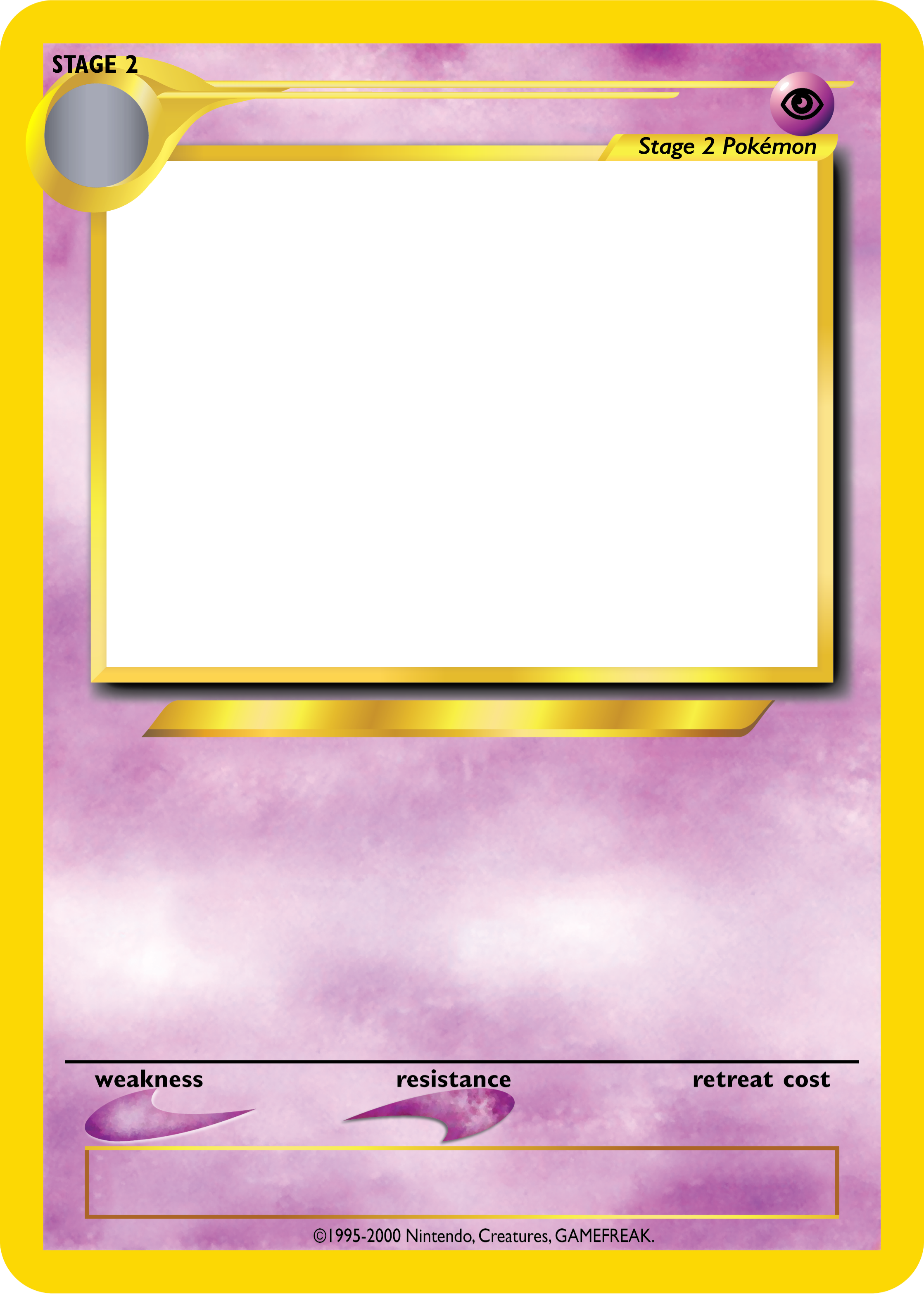 Pokemon Tcg Blanks Neo Jumbo Stage 2 By Icycatelf On