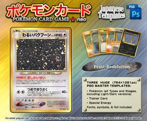 Japanese Neo-Series Print-Resolution PSD Template