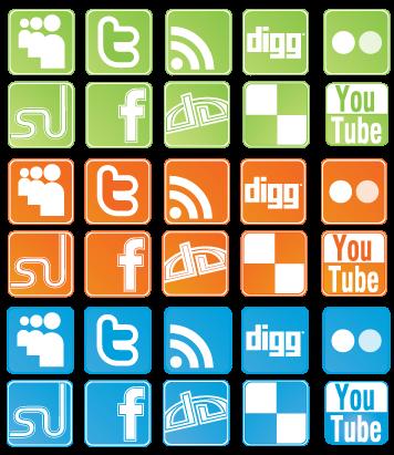 Social Network Sites: Icon Set