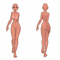 Walking Woman - Template by BrightBit