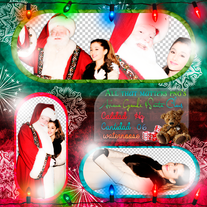 Ariana Y Santa Claus Png 39 S By Skyscraapertutorials On
