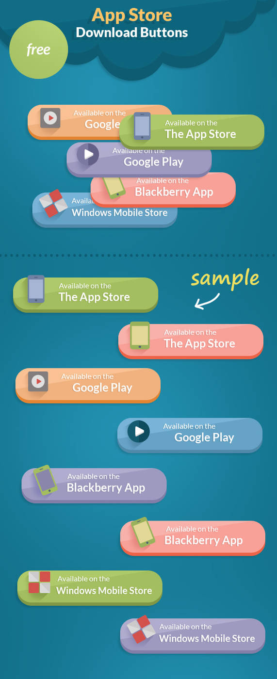 Free psd App Store Download Buttons by NODY4DESIGN on DeviantArt