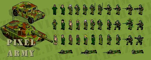 pixel army by zchizzerz