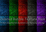 Colored Rubble Texture Pack